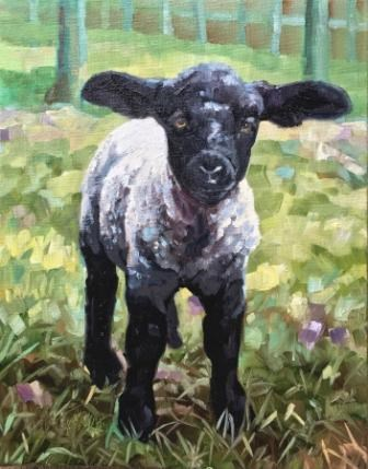 """LAMBKIN"" original fine art by Kristy Tracy"