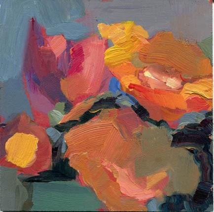 """""""1290 Orange Petal"""" original fine art by Lisa Daria"""