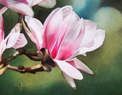"""""""Springtime Friend"""" original fine art by Jacqueline Gnott, whs"""