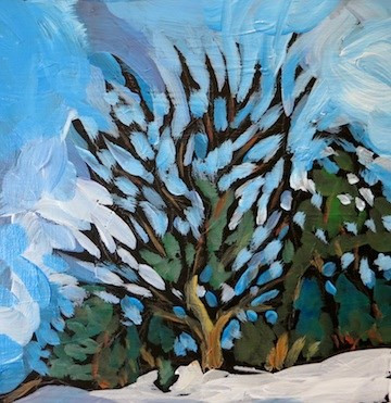 """Roadside Trees #8, Pilot Knob, Rosemount"" original fine art by Kat Corrigan"