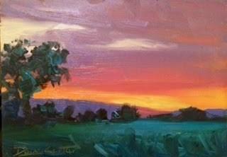 """""""RED SKYS"""" original fine art by Doug Carter"""