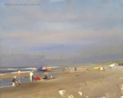 """Seascape summer # 6 Bluesky"" original fine art by Roos Schuring"