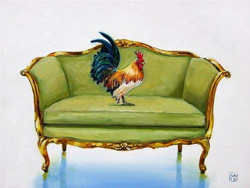 """cocky"" original fine art by Kimberly Applegate"
