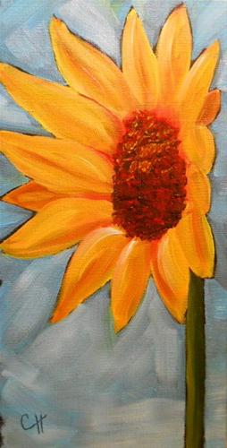 """Sunflower Two"" original fine art by Claire Henning"