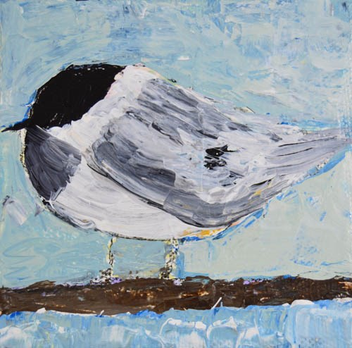 """Bird 50"" original fine art by Katie Jeanne Wood"