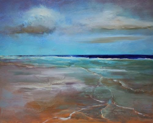 """Florida Beach, Beach and Ocean Paintings by Arizona Artist Amy Whitehouse"" original fine art by Amy Whitehouse"