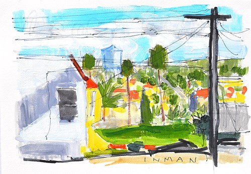 """The View From The Laundromat"" original fine art by Kevin Inman"