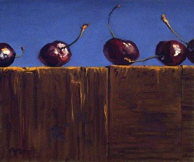 """Row of Cherries"" original fine art by Abbey Ryan"