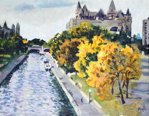 """The Rideau Canal at the Parliament"" original fine art by Elbagir Osman"