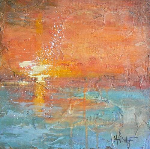 """California Sunset"" original fine art by Carol Schiff"