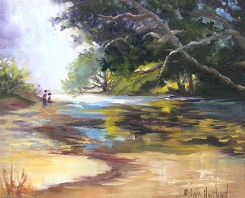 """Waipu Cove by Barbara Haviland"" original fine art by Barbara Haviland"