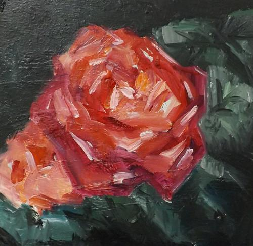 """FLOWER,S25"" original fine art by Run-      Zhang Zane"