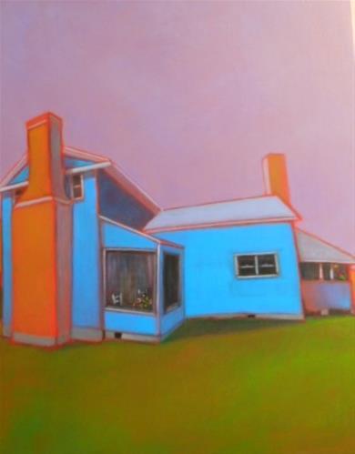 """Porch Sitting"" original fine art by Almira Hill Grammer"