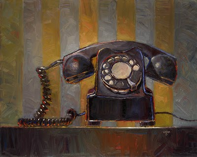 """Old Telephone"" original fine art by Raymond Logan"