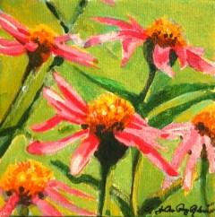 """Pink N' Green"" original fine art by JoAnne Perez Robinson"