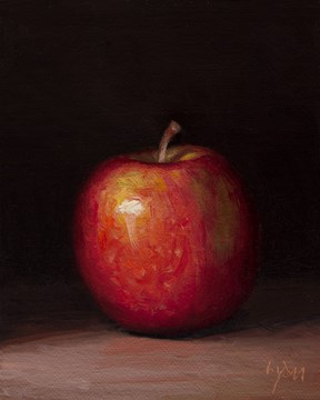 """Lady Apple in Last Light"" original fine art by Abbey Ryan"