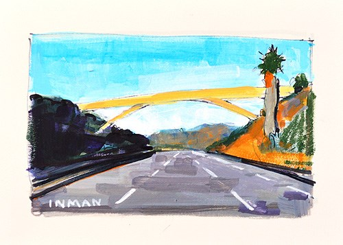 """Rainbow Bridge, Fallbrook"" original fine art by Kevin Inman"