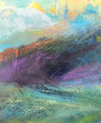 """""""Far Away Land"""" original fine art by Becky Chappell"""