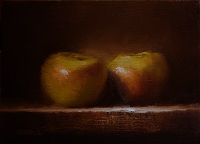 """Bramley Apples"" original fine art by Neil Carroll"