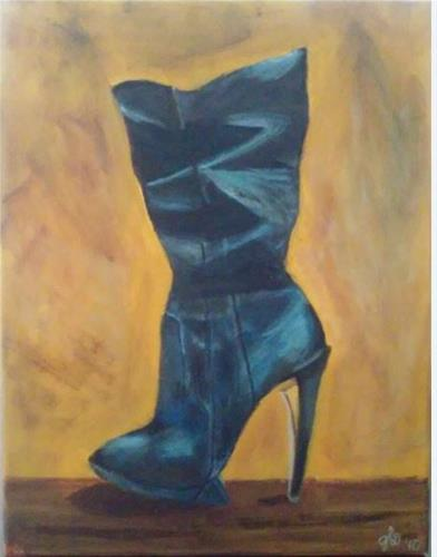 """Boot it"" original fine art by Gerri Obrecht"