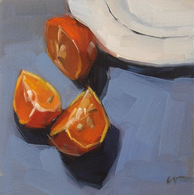 """Mandarin on the Side"" original fine art by Carol Marine"