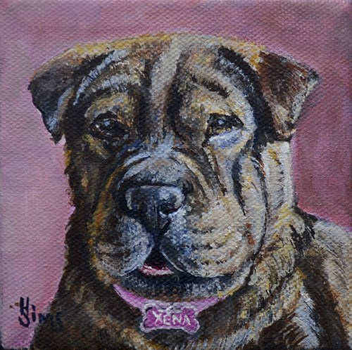 """Xena"" original fine art by Heather Sims"