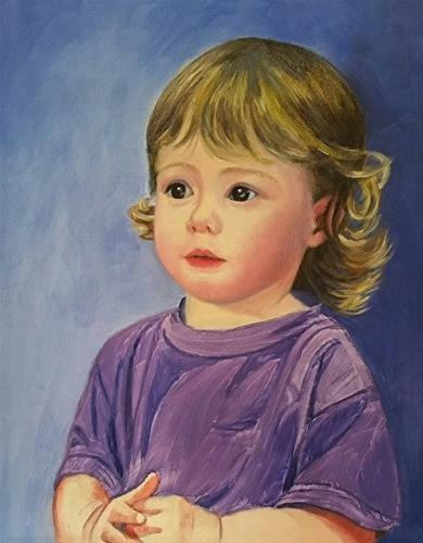 """Little Sarah"" original fine art by Michelle Rideout"