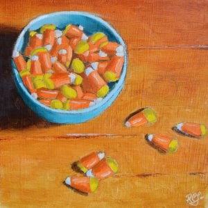 """Candy Corns"" original fine art by Robert Frankis"