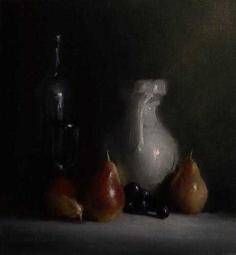 """Arrangement with Pears"" original fine art by Neil Carroll"