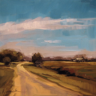 """Flat as Fredericksburg"" original fine art by Karin Jurick"