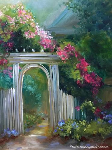 """Garden Vista - Nancy Medina Art Classes and Videos"" original fine art by Nancy Medina"