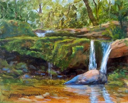 """Summer Day Old Mills Falls"" original fine art by Jamie Williams Grossman"