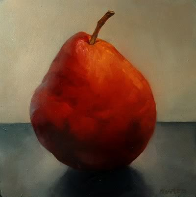 """Big Red Pear"" original fine art by Michael Naples"