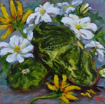 """summer squash"" original fine art by wendy black"