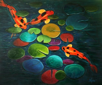 """Pool Party"" original fine art by Sunny Williams"
