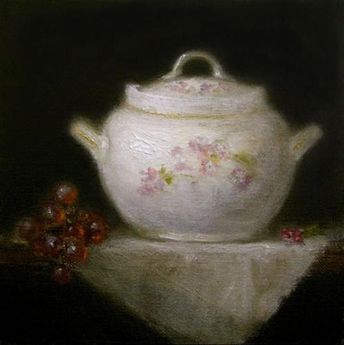 """Mama's Sugar Bowl"" original fine art by MeeLi Lee"
