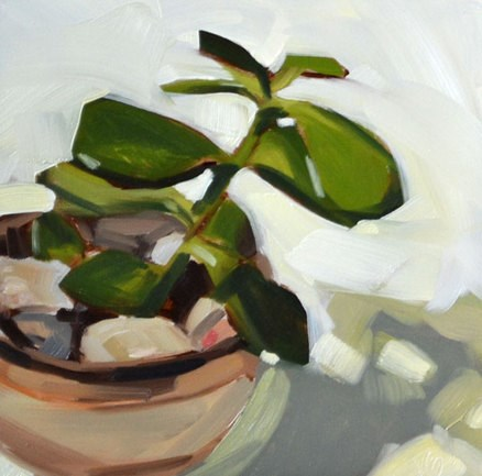 """Mark's Plant Portrait"" original fine art by Jessica Green"