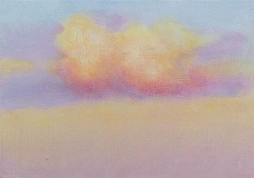 """Glazing Clouds"" original fine art by Bobbi Heath"