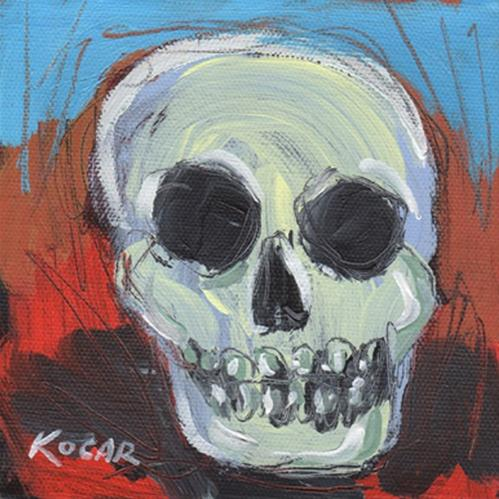 """Fall Skull #5"" original fine art by George Kocar"