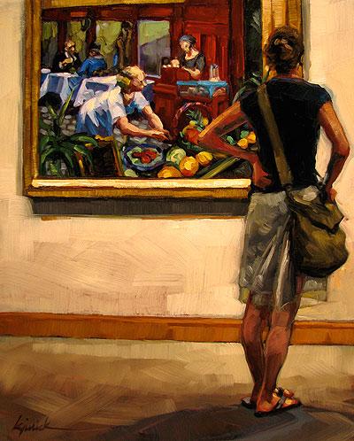 """Hungry Eyes"" original fine art by Karin Jurick"