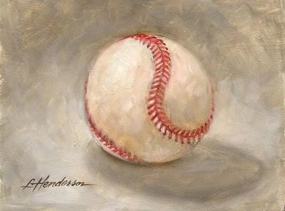"""Baseball 1"" original fine art by Lael Henderson"