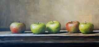"""Lady Apples"" original fine art by Christina Dowdy"