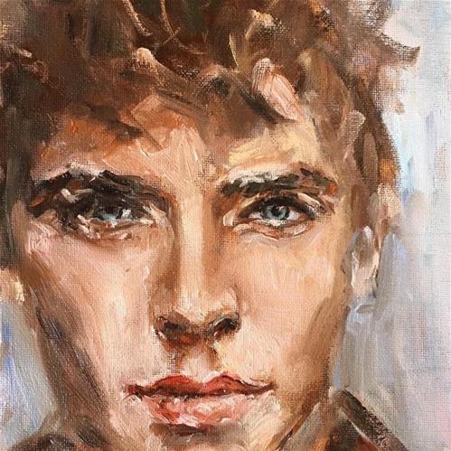 """""""The Gardener"""" original fine art by Thea Lombaard"""