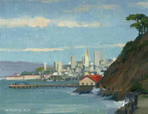 """Fort Point view"" original fine art by J. Thomas soltesz"