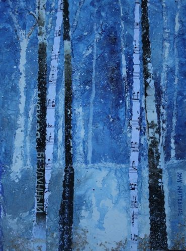 """Russian Rhapsody Mixed Media Paintings by Arizona Artist Amy Whitehouse"" original fine art by Amy Whitehouse"