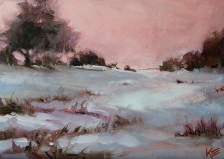 """Winter's Morning"" original fine art by Krista Eaton"