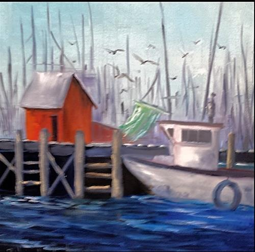 """Stopping to Fuel UP"" original fine art by Barbara Haviland"