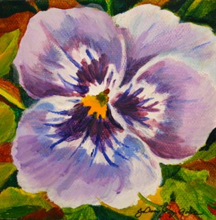 """Purple Petals"" original fine art by JoAnne Perez Robinson"