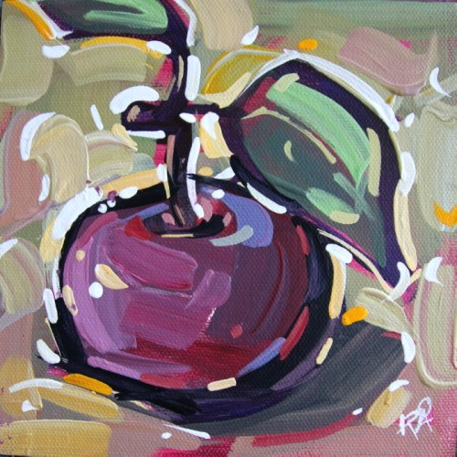 """""""Apple Abstraction 29"""" original fine art by Roger Akesson"""