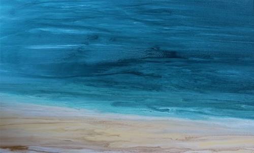 """Contemporary Seascape,Coastal Abstract Art Stormy Days of Summer II by International Contemporary"" original fine art by Kimberly Conrad"